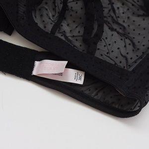 Victoria's Secret Intimates & Sleepwear - 36C Victoria's Secret Sheer Black Polka Dot Bra